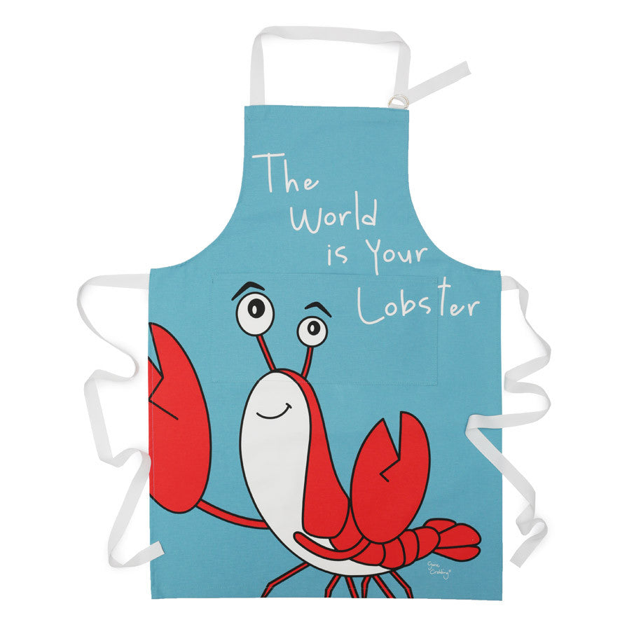 Gone Crabbing Apron - 'The World is your Lobster'