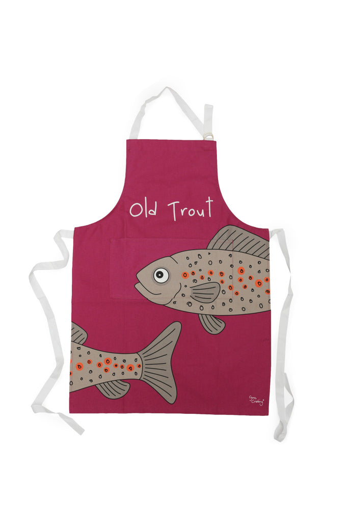 Gone Crabbing Apron - Old Trout