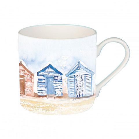 Beach Huts Bone China Mug