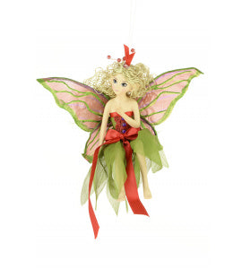 Red & Green Fairy Tree Decoration