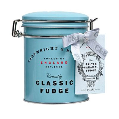 Cartwright & Butler Salted Caramel Fudge in Gift Tin