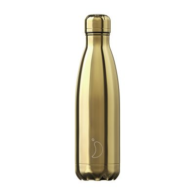 Chilly's Chrome Gold Bottle 500ml