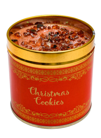 Christmas Scented Candle Tin - Christmas Cookies