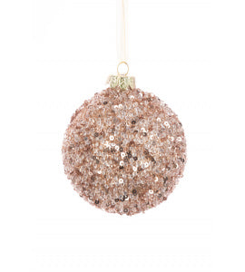 Danette Pink Glass Bauble Tree Decoration