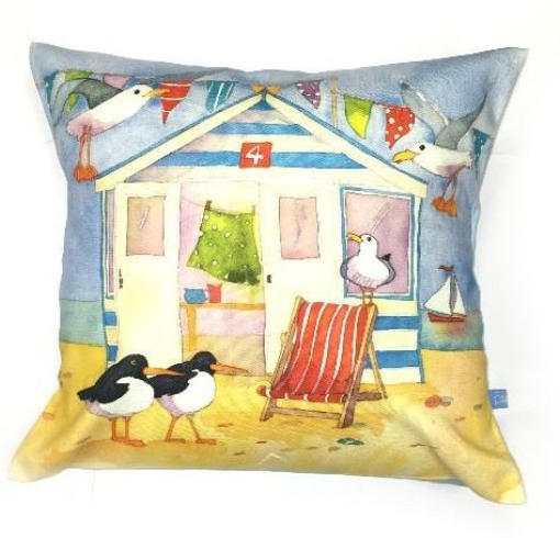 Emma Ball 'A Day At The Seaside' Square Cushion