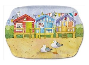 Emma Ball 'A Day At The Seaside' Medium Tray