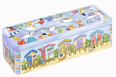 Emma Ball A Day at the Seaside Long Rectangular Tin