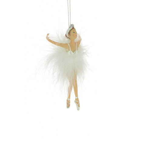 Feather Ballet Dancer Tree Decoration