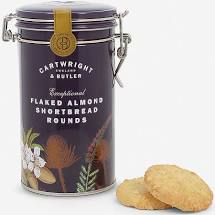 Flaked Almond Shortbread Rounds in Gift Tin