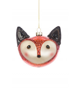 Glass Fox Christmas Tree Decoration