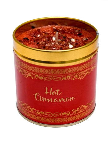 Christmas Scented Candle Tin - Hot Cinnamon