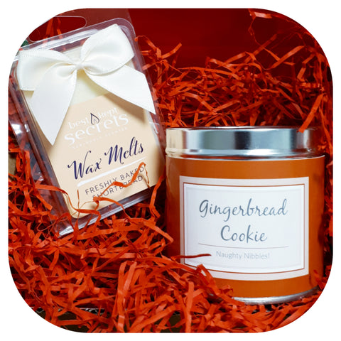A Scented Hug - Gingerbread Cookie Candle & Freshly Baked Shortbread Wax Melts