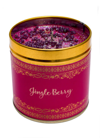 Christmas Scented Candle Tin - Jingle Berry