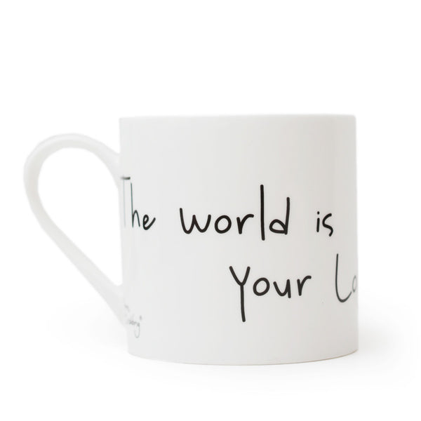 Gone Crabbing Large Bone China Mug - 'The World is Your Lobster'