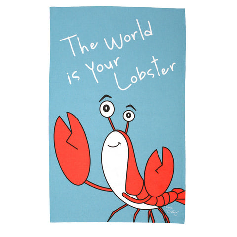 The World is Your Lobster Tea Towel