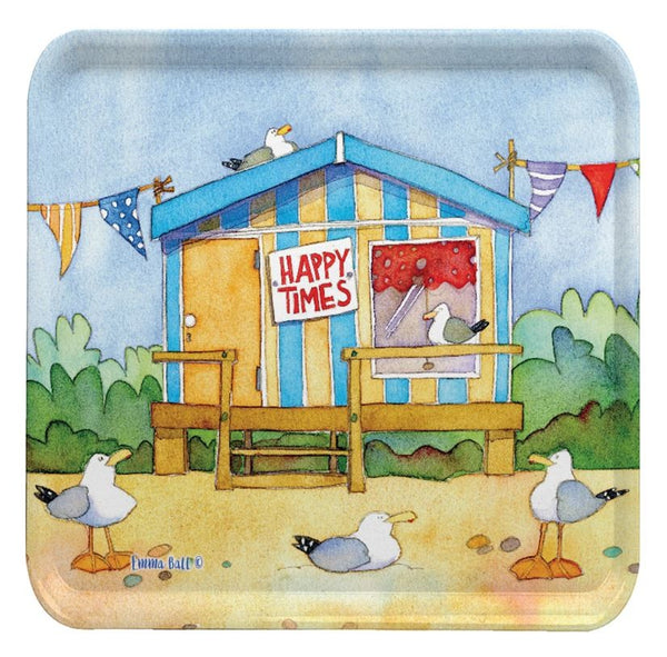 Emma Ball 'A Day At The Seaside' Square Tray