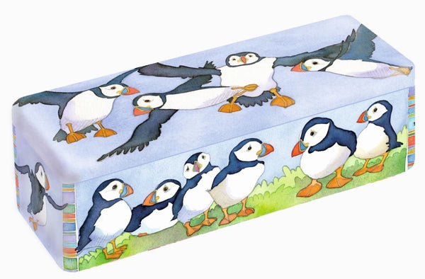 Emma Ball Puffins Long Rectangular Tin