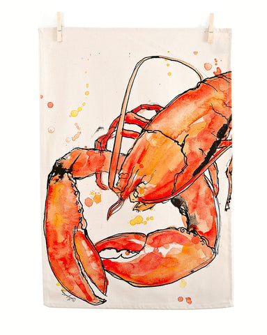 Red Lobster Tea Towel
