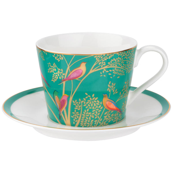 Sara Miller London Chelsea Collection Cup & Saucer Green