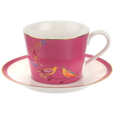 Sara Miller London Chelsea Collection Cup & Saucer Pink