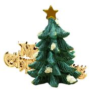 Green Tree and Merry Christmas Cake Topper