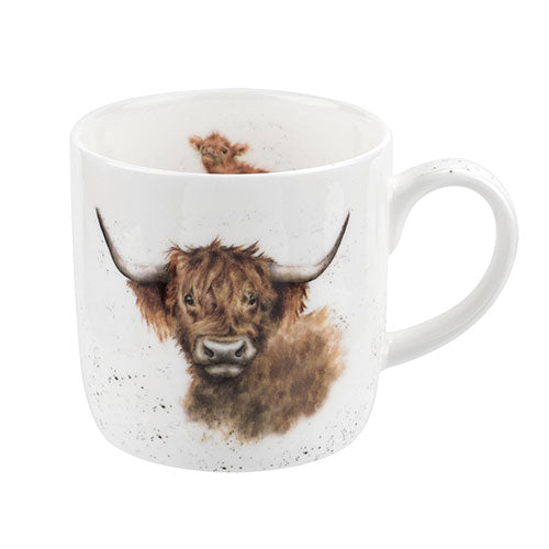 Wrendale Royal Worcester 'Highland Coo' Cow Mug