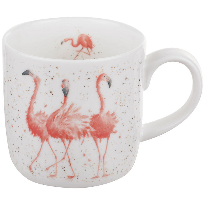 Wrendale Royal Worcester 'Pink Ladies' Flamingo Mug