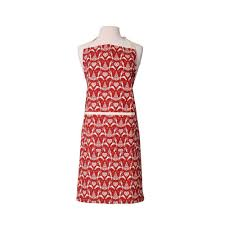 Yuletide Red & Cream Apron