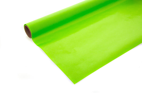 10m roll Bright Lime Green Recycled Paper