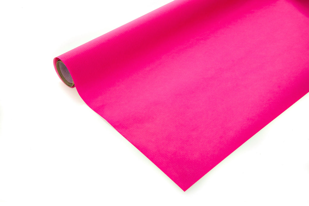 10m roll Bright Pink Recyclable Kraft Paper