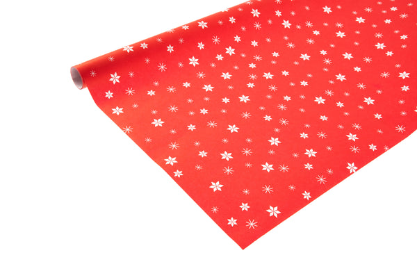 2m roll Red Kraft Paper With Stars