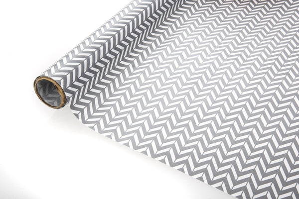 2m Grey Chevron Kraft Paper
