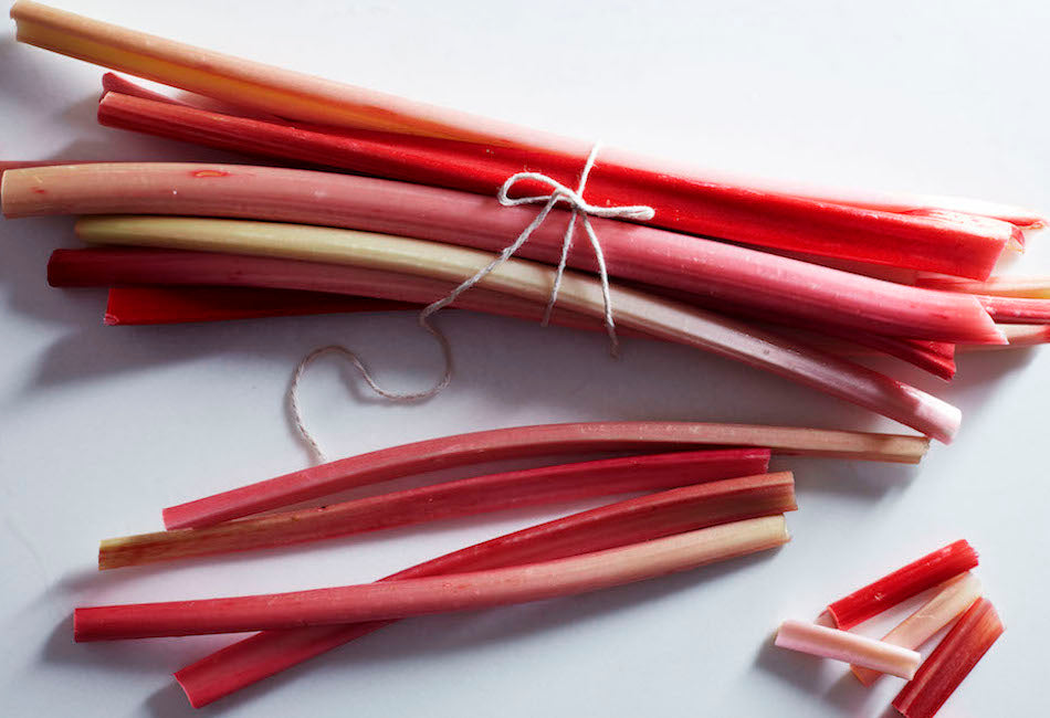 Poached forced rhubarb
