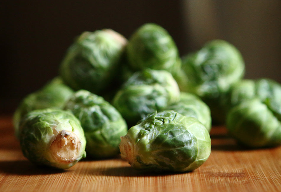 Brussels sprouts & nutmeg purée