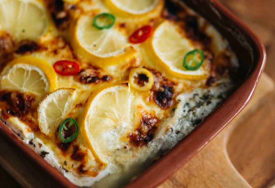 Spicy fish casserole