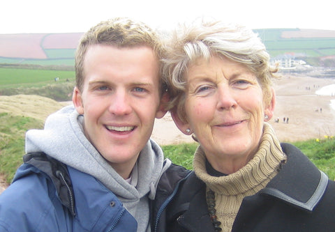James Ashwell with his mother Fay