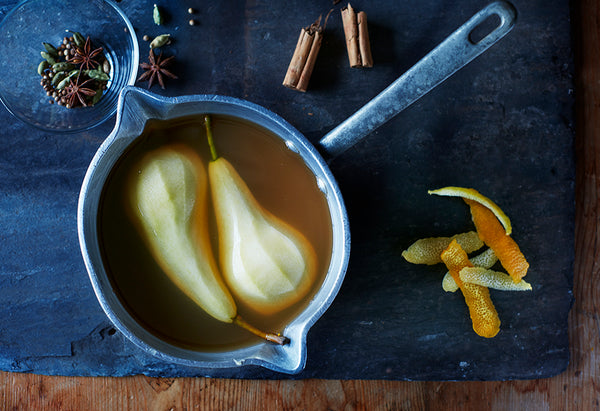Nourish by Jane Clarke Poached Pears recipe
