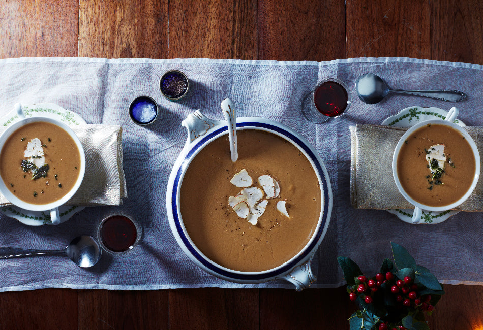 Chestnut and lentil soup from Nourish by Jane Clarke