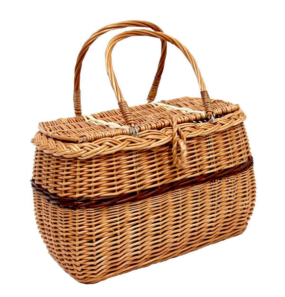 Brown Wicker Handbag
