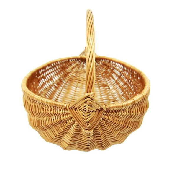 Fan Wicker Basket