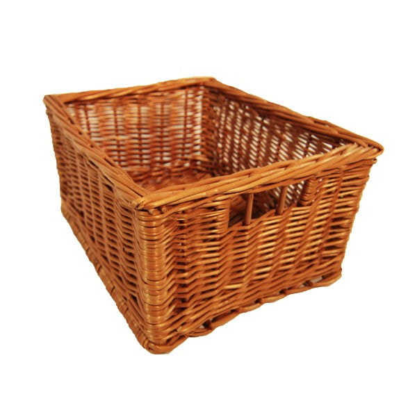 Open Wicker Storage Box