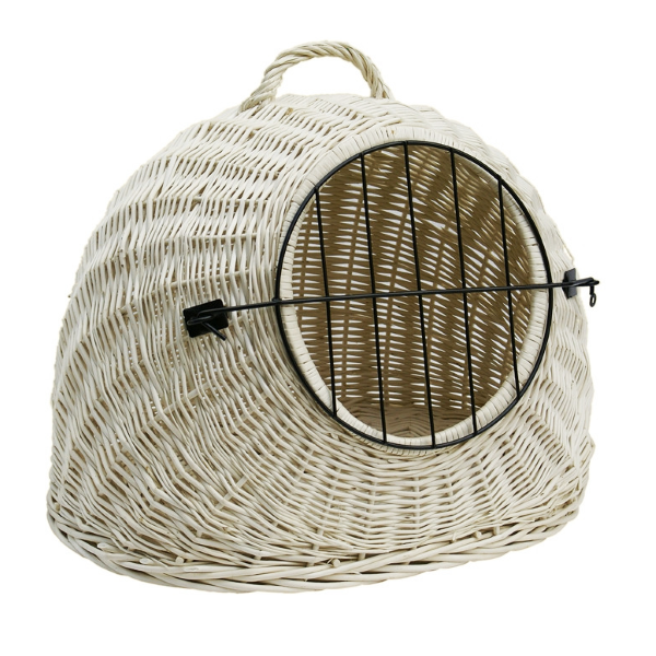 Round Pet Basket / Carrier - White