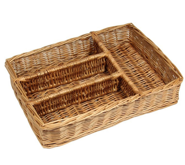 Wicker Drawer Cutlery Tray