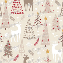 Load image into Gallery viewer, Winter Woodland Pattern Decoration - Icing - ISA113 - Sugar, Frosting Paper, Sugar Art