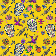 Load image into Gallery viewer, Halloween Dia-de-Muertos Pattern - Icing - ISA124 - Sugar, Frosting Paper, Sugar Art