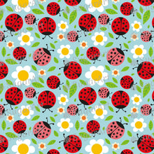 Load image into Gallery viewer, Spring Ladybugs with Flowers - Icing - ISA125 - Sugar, Frosting Paper, Sugar Art