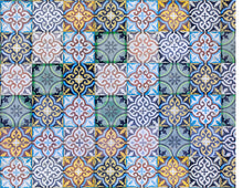 Load image into Gallery viewer, Moroccan Traditional Arabic Ceramic Tiles - Icing - ISA127 - Sugar, Frosting Paper, Sugar Art