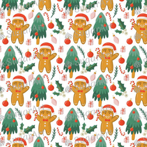 Christmas Tree Gingerbread Pattern - Icing - ISA142 - Sugar, Frosting Paper, Sugar Art