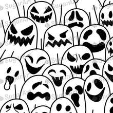 Load image into Gallery viewer, Spooky Ghost Halloween Design - Icing - ISA151