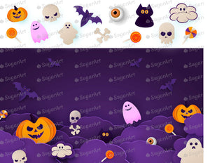 Purple Night Halloween Collection - Icing - ISA153